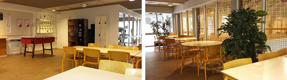 cafeteria faciliteter i Svendgønge hallen