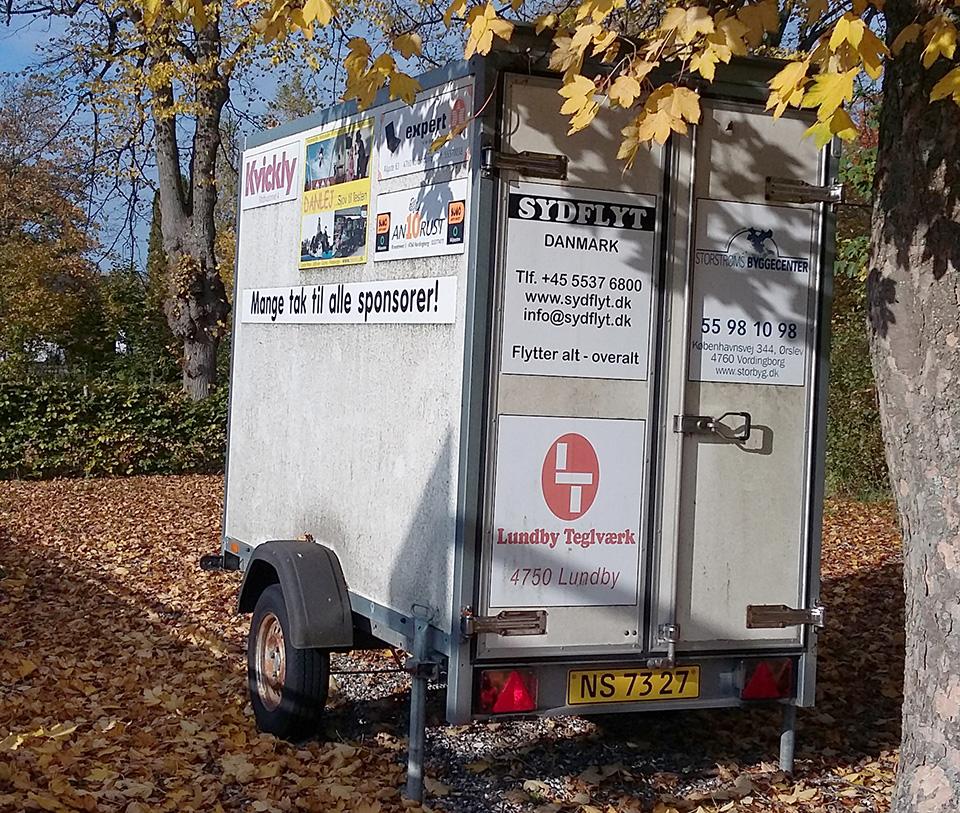 Lukket flytte trailer